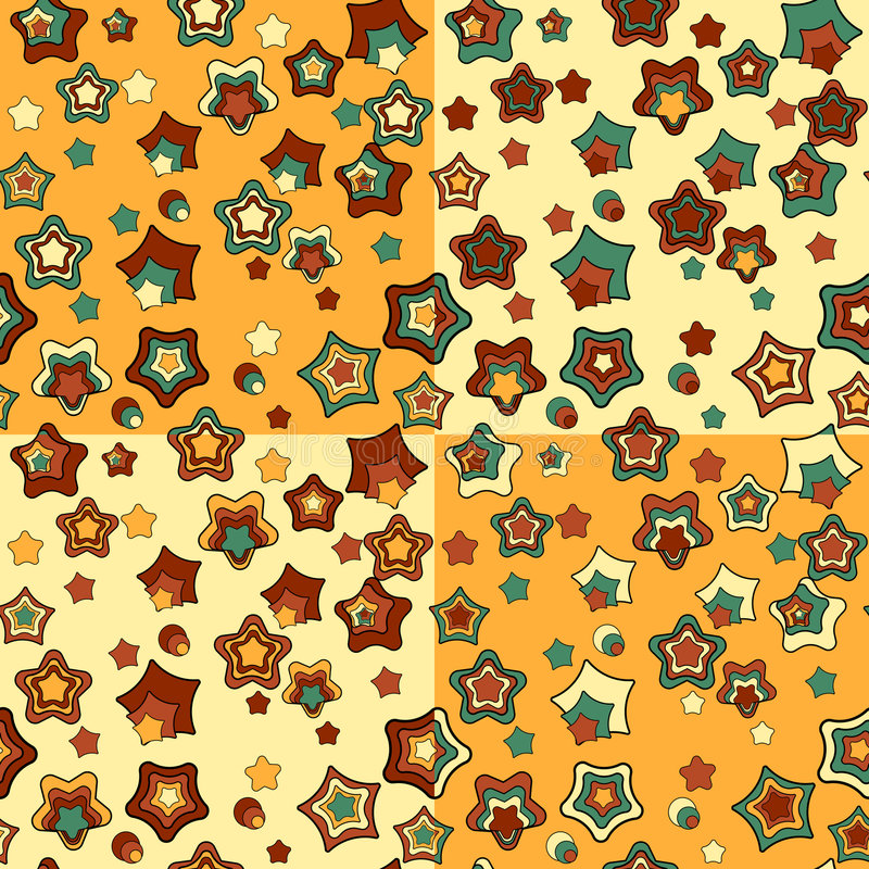 Download Set Of Four Abstract Seamless Patterns Royalty Free Stock Image - Image: 8122876