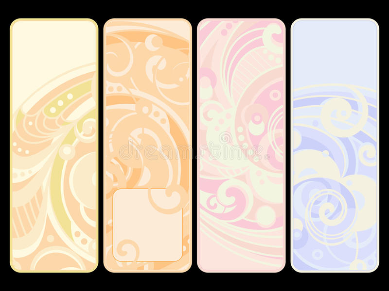 Set of four banners vector illustration