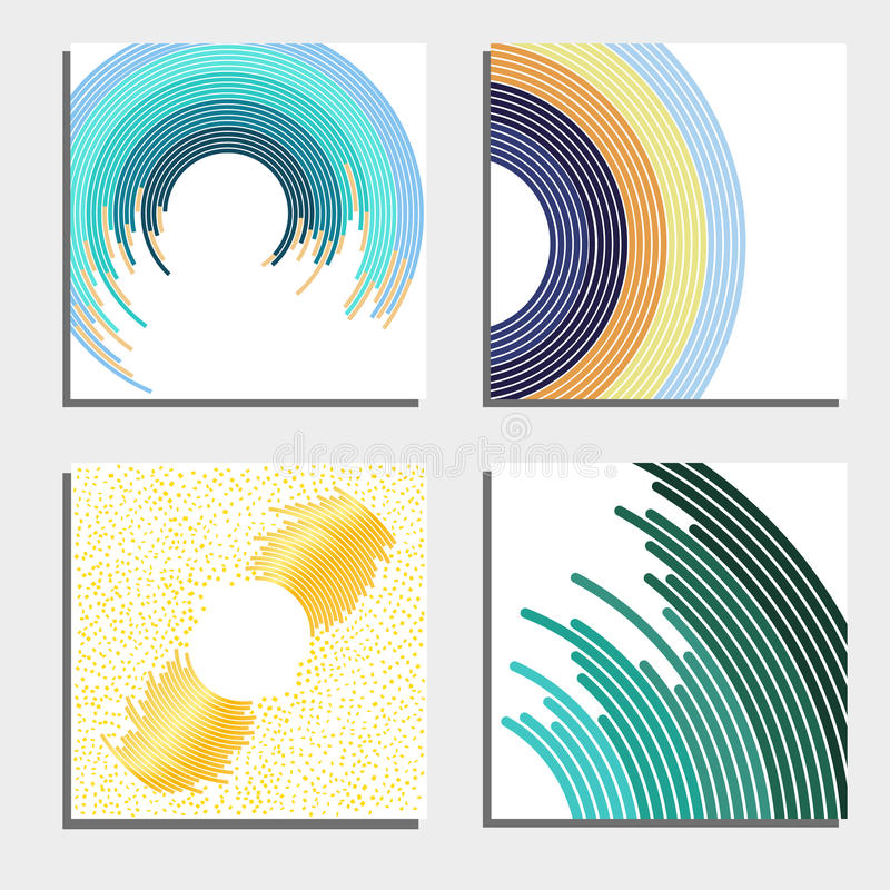 Set Of Four Beautiful Abstract Backgrounds. Abstract Flash