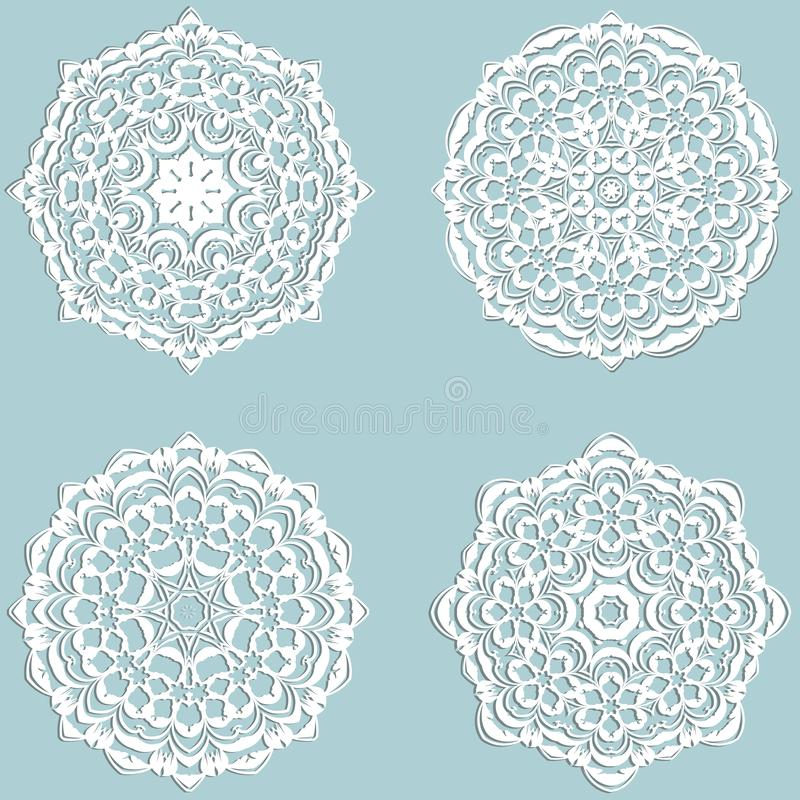 Vector lace snowflakes vector illustration