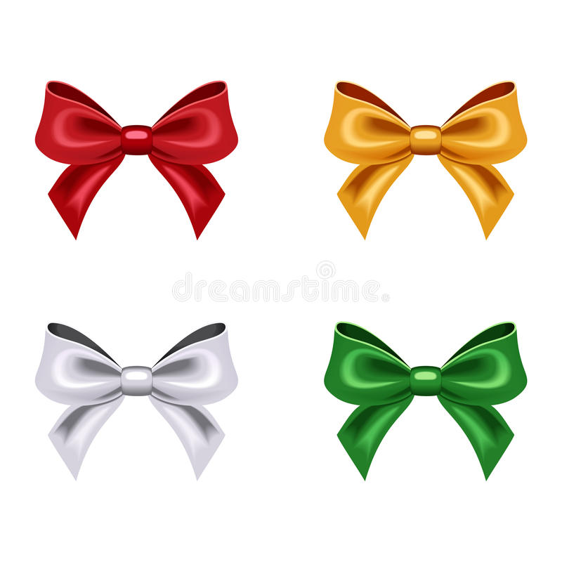 Download Set of four bows. stock vector. Illustration of color - 34984490