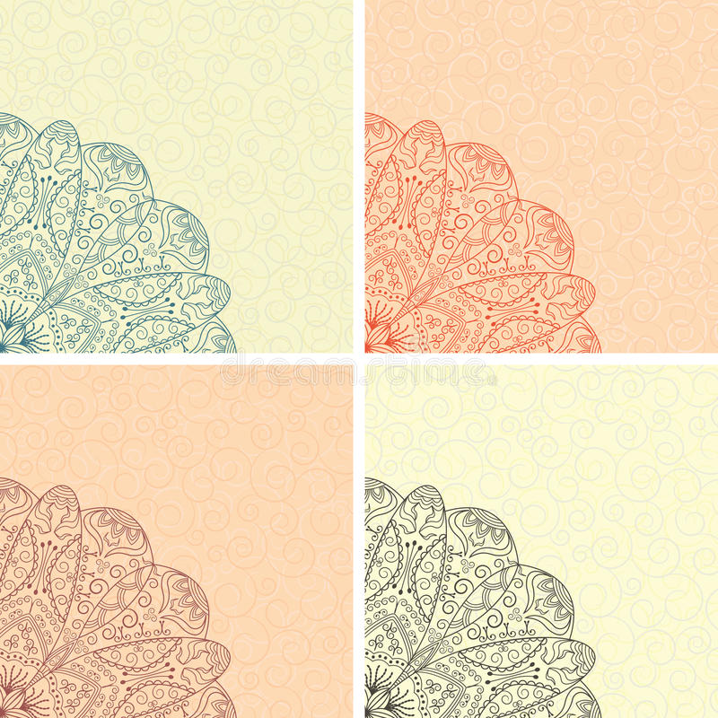 Download Set of four cards stock vector. Image of beauty, greeting - 24901407