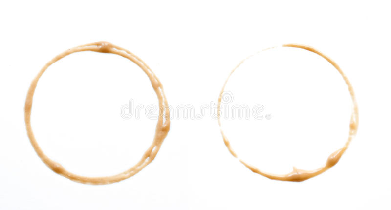 Set of four coffee stains. stock photography