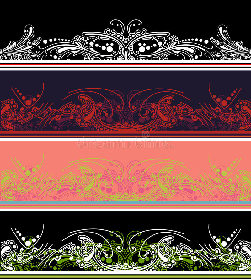 Download Set Of Four Color Border  Elements Stock Vector - Image: 18866689