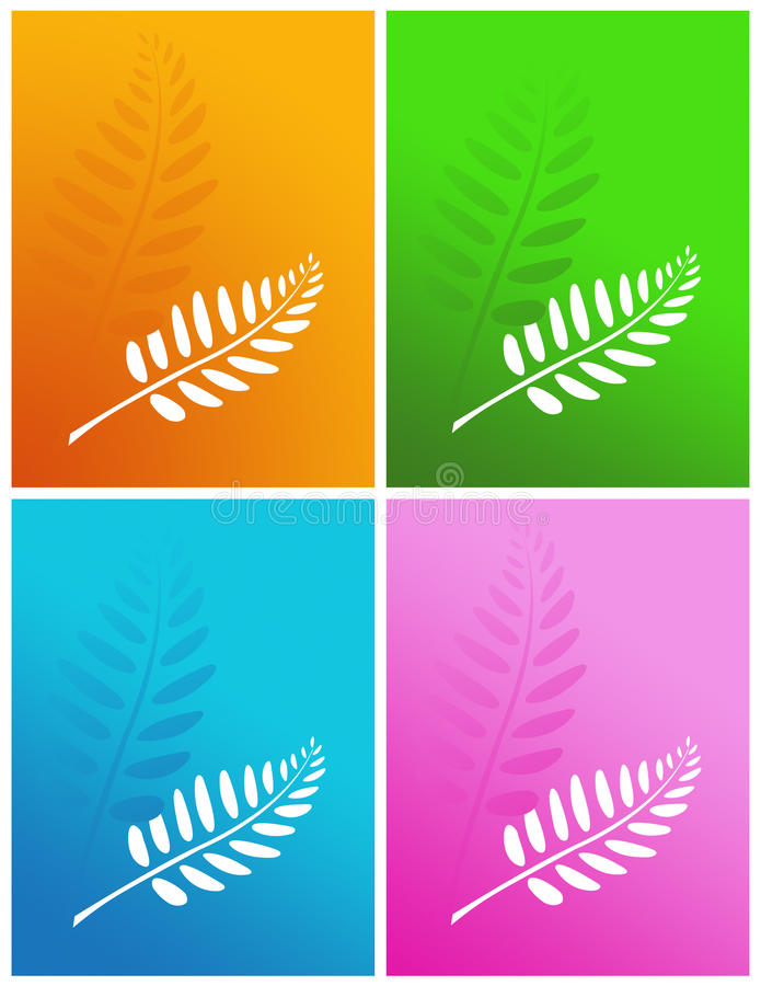 Set of four colors. Set of four colors abstract background stock illustration