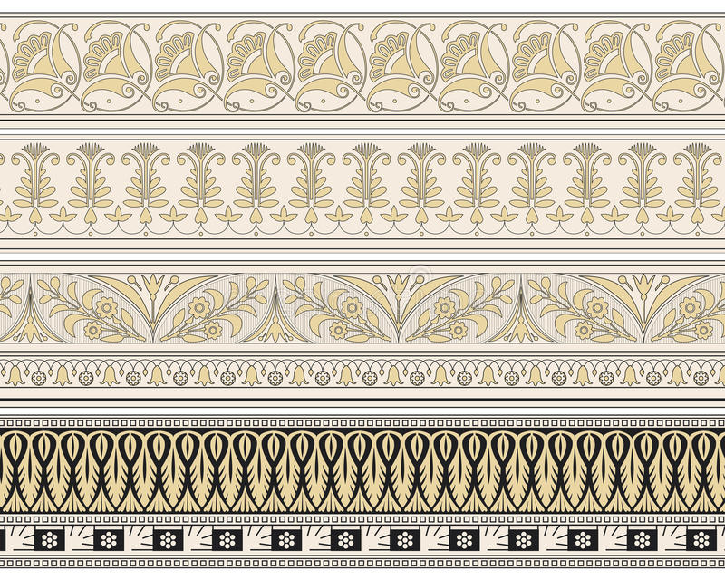 Download Set Of Four Decorative Borders Stock Vector - Illustration: 20666941