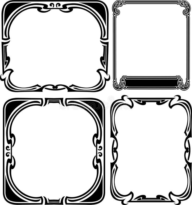 Set Of Four Elegance Baroque  Frames Royalty Free Stock Photo
