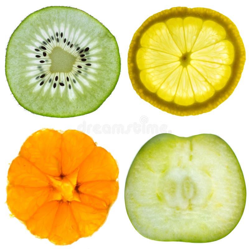 Set of four fruits stock photo