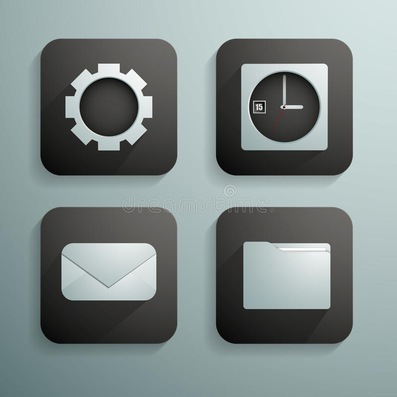 Download A Set Of Four Icons For Websites And Programs In B Stock Vector - Illustration: 35310923