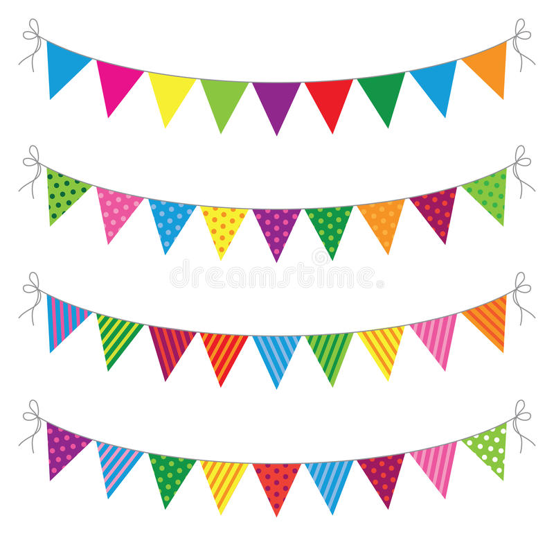 Bunting. A set of four lines of bunting