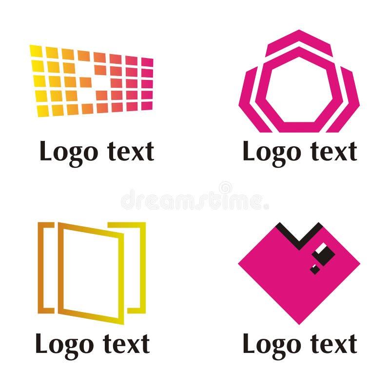 Set of four logo. Set of vector illustration with elements for logo royalty free illustration