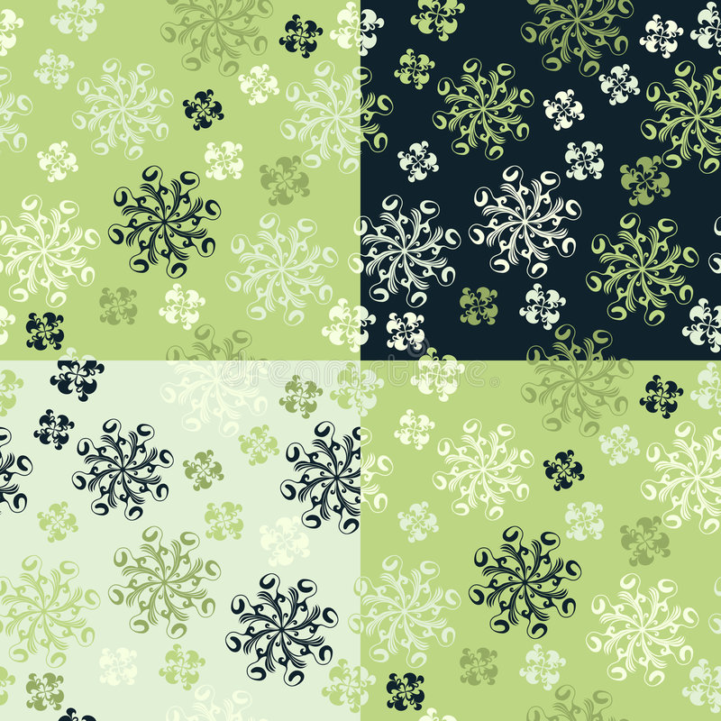 Download Set Of Four Seamless Patterns Stock Vector - Image: 8122856