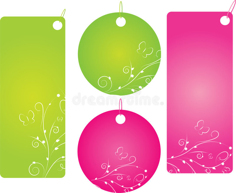 Download Set Of Four Shopping Labels Stock Vector - Image: 8312206