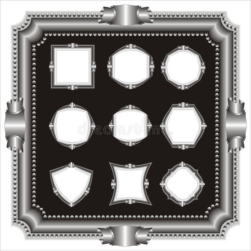 Download Set of frame. stock vector. Illustration of elaborate - 1591391
