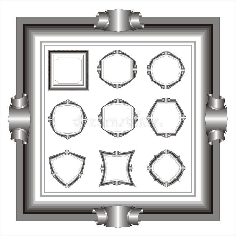 Download Set of frame. stock vector. Image of illustration, black - 1591495