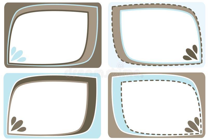 Download Set of frames stock vector. Illustration of certificate - 18168441