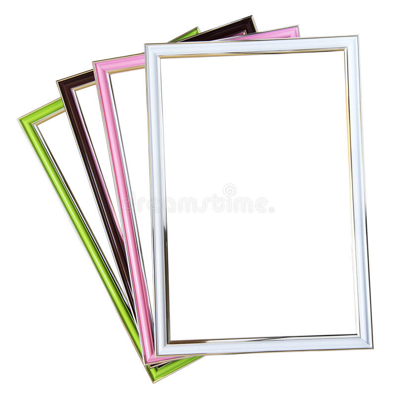 Set of frames isolated on white background royalty free stock photography