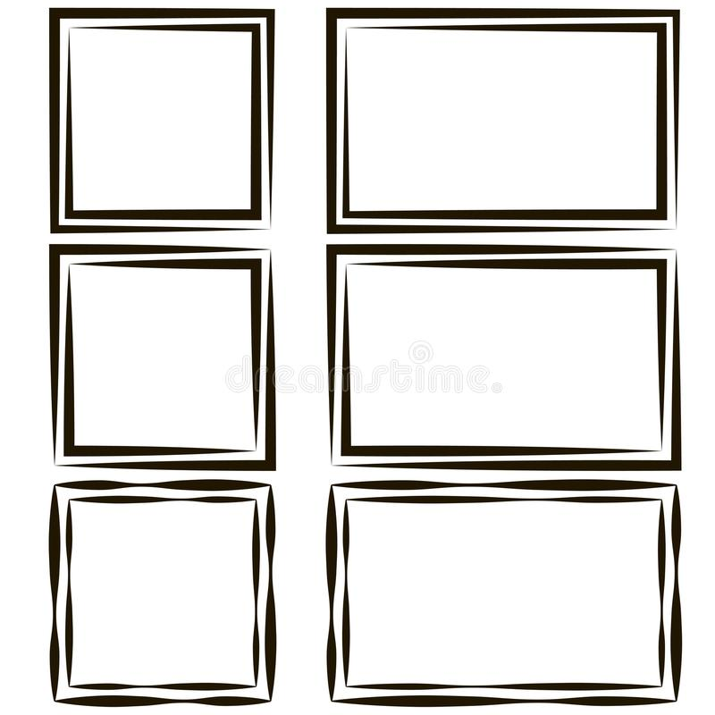 Set Of Frames For Picture Photos, Vector Empty Speech Bubble Text ...