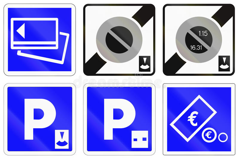 Set of French information road signs.  vector illustration