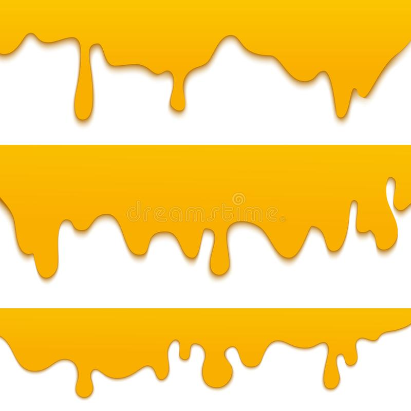 Set of fresh dripping and flowing honey royalty free illustration