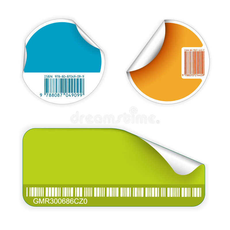 Download Set Of Fresh Labels With Bar Codes Stock Photography - Image: 9035802