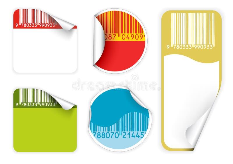 Set of fresh labels with bar codes(vivid colors)