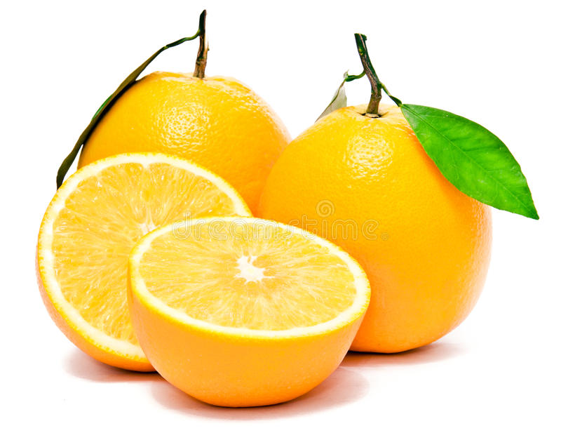 A Set of Fresh Orange stock images
