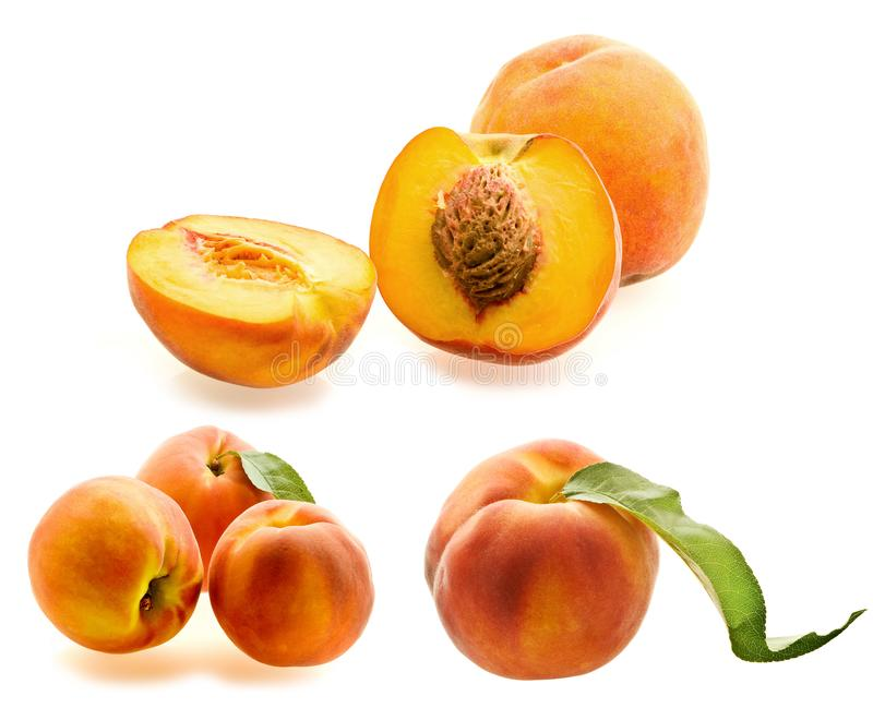 Download Set of fresh ripe peaches stock image. Image of natural - 6445577