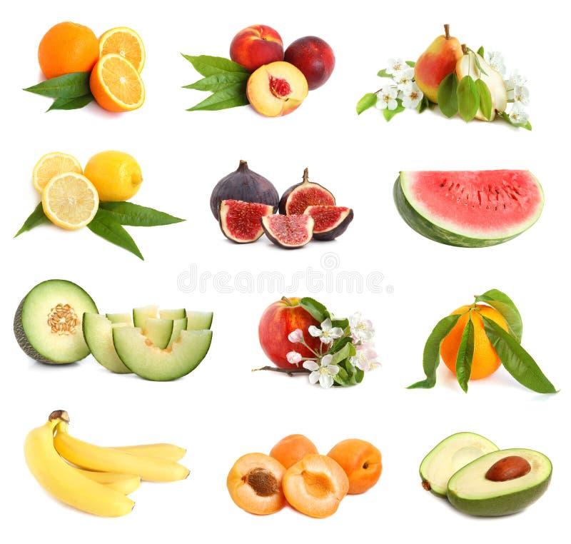 Set Frischefrüchte stockfotos