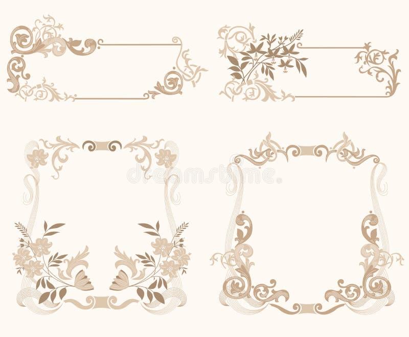 Download Set_of_froral_frame stock vector. Image of frame, design - 4215229