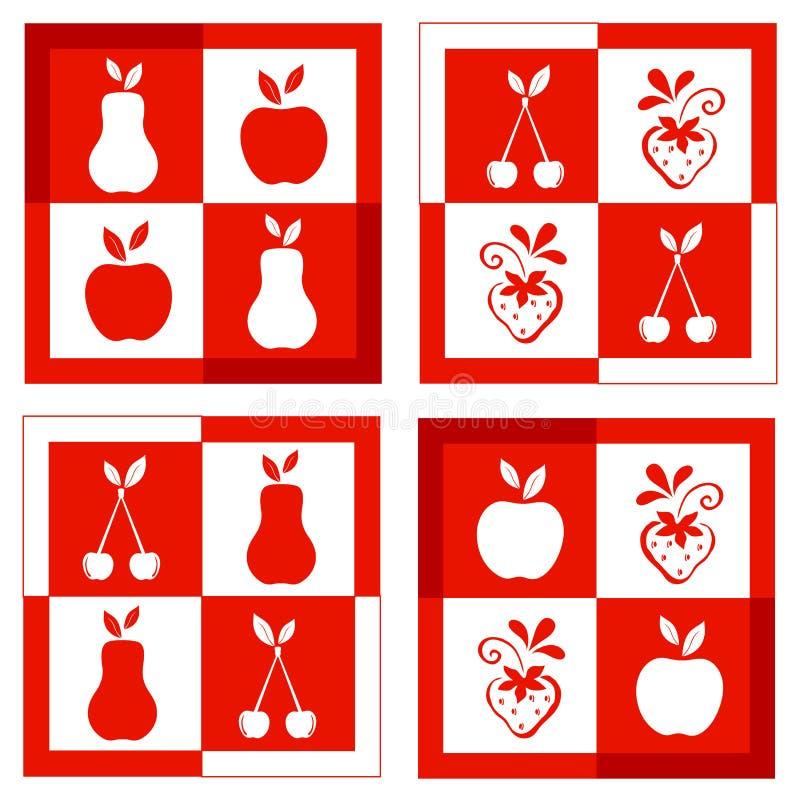 Set Of Fruit Frames Stock Images