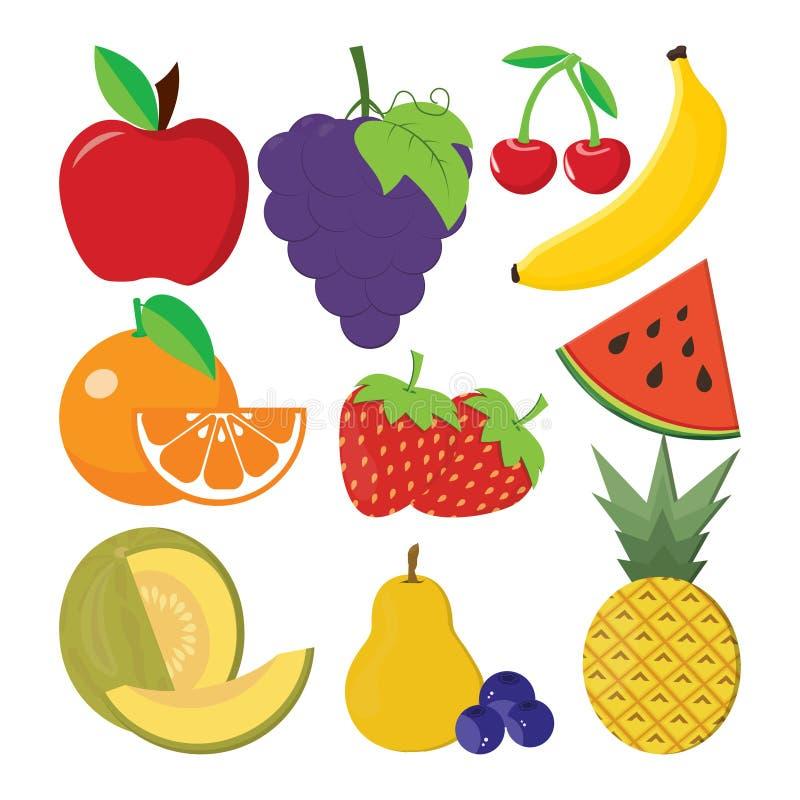 Set of fruits vector illustration