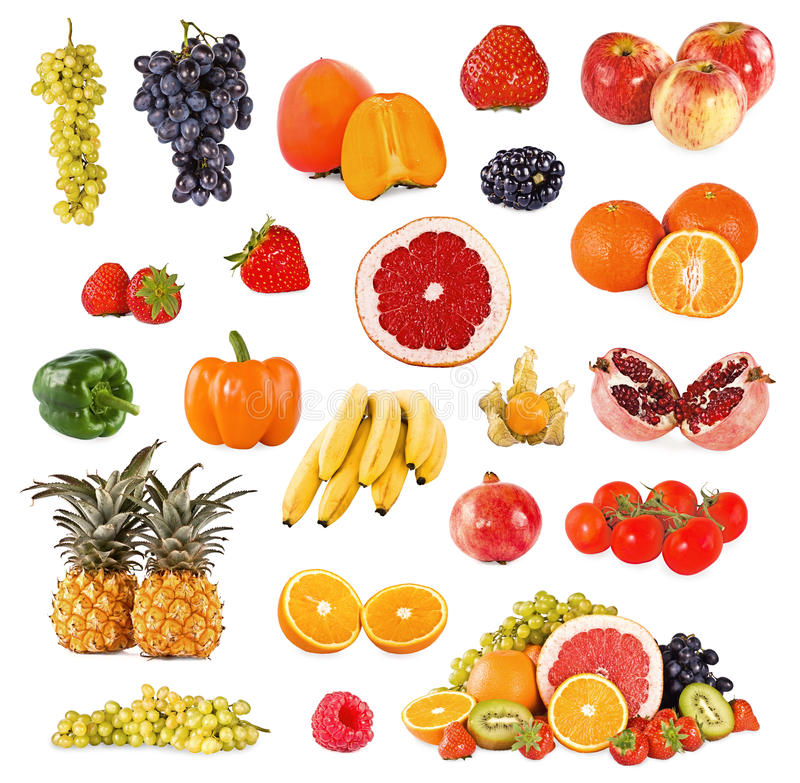 Download Set Of Fruits And Vegetable Stock Image - Image: 19576013