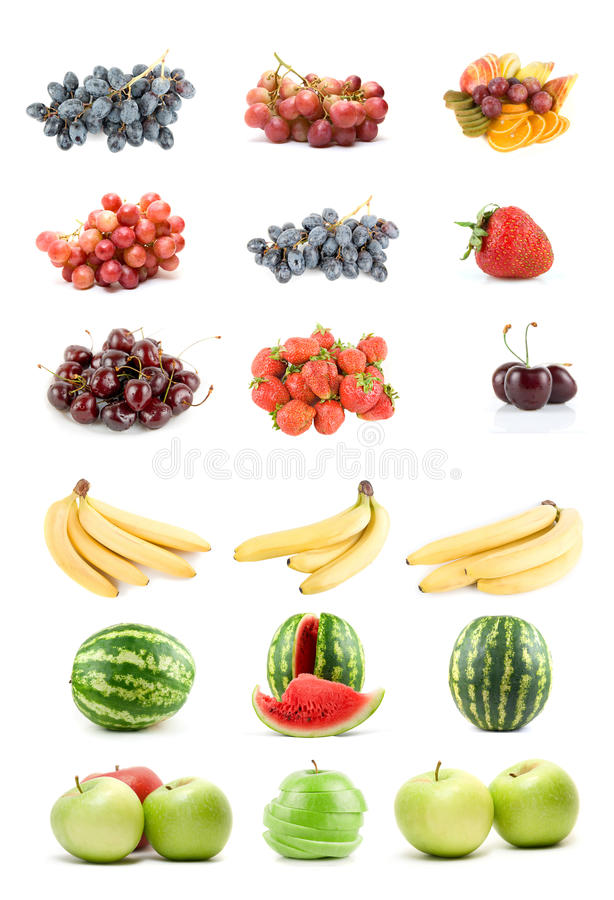 Download Set Of Fruits And Vegetables Stock Photo - Image: 10658450
