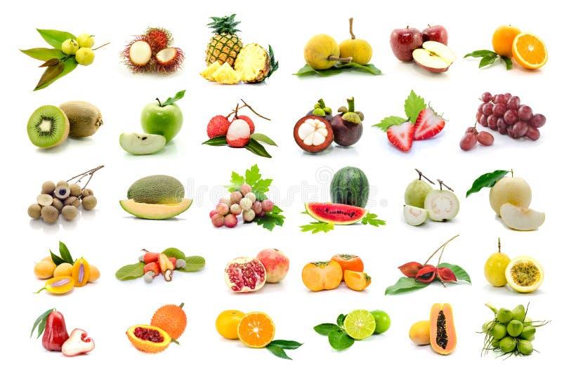 Set of fruits royalty free stock photos