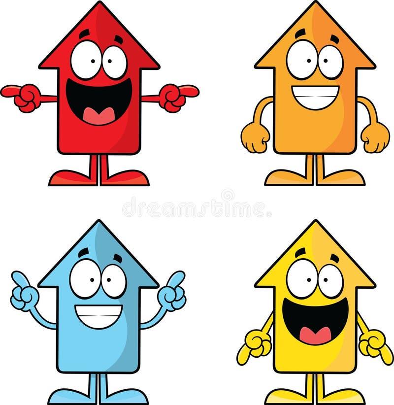 Set of Funny Cartoon Arrows royalty free illustration