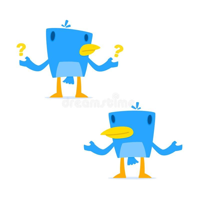 Download Set Of Funny Cartoon Blue Bird Stock Vector - Image: 21593540