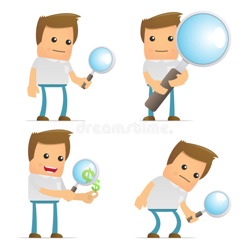 Set of funny cartoon casual man vector illustration