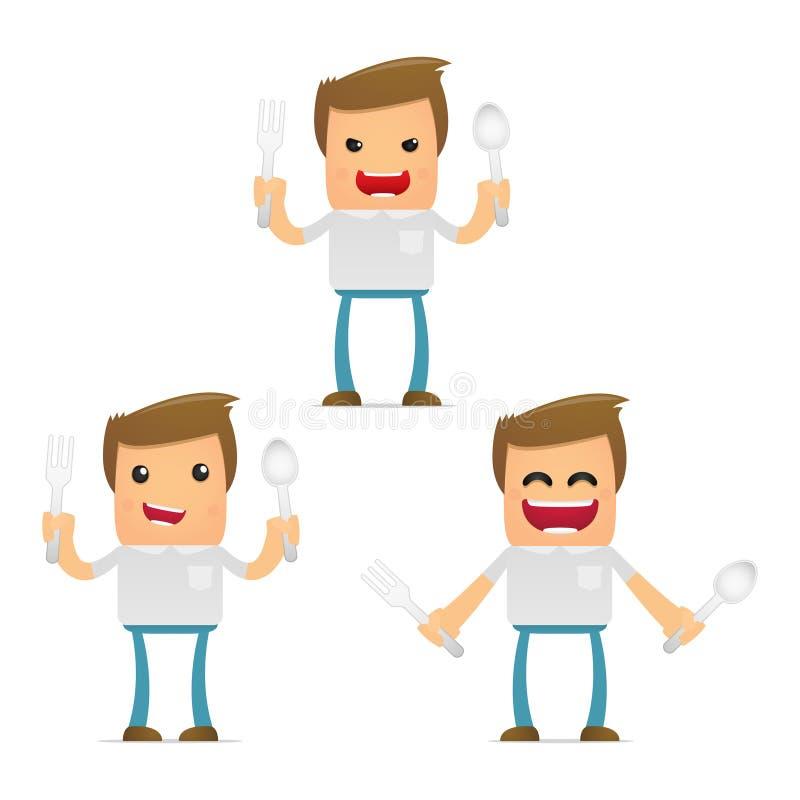 Download Set Of Funny Cartoon Casual Man Stock Vector - Image: 21906703