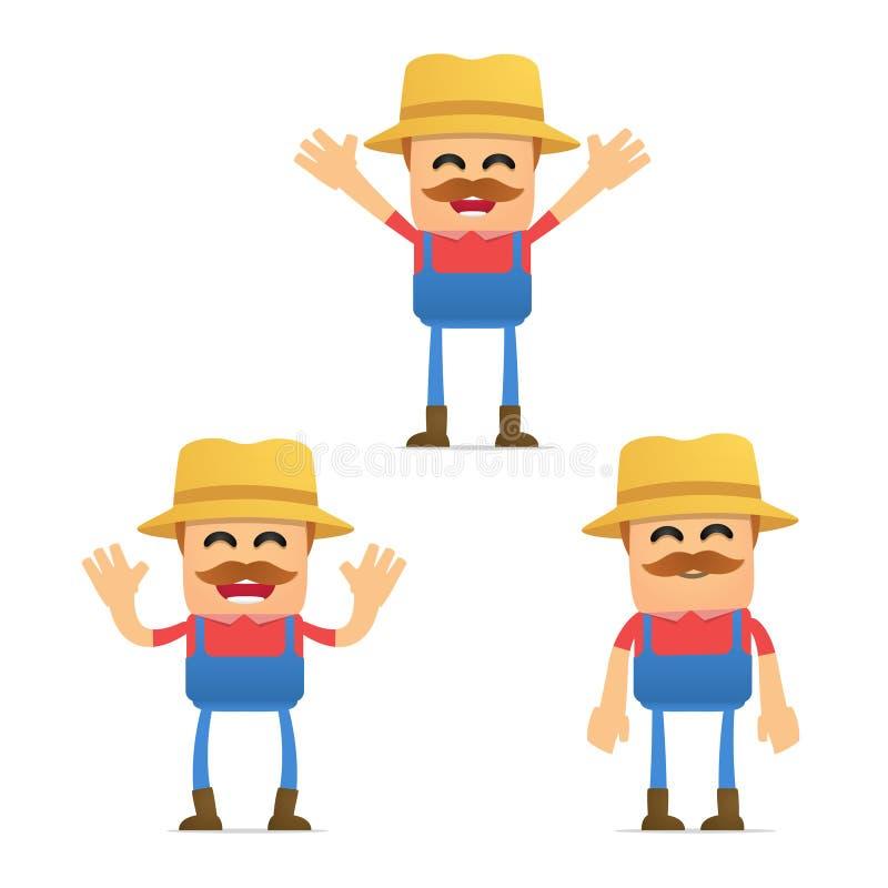 Download Set Of Funny Cartoon Farmer Stock Vector - Illustration of cartoon, happy: 20304259