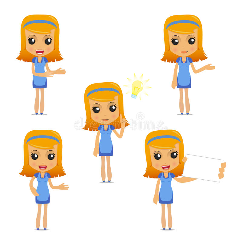 Download Set Of Funny Cartoon Housewife Stock Vector - Image: 19663331