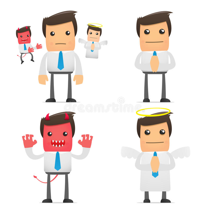Download Set Of Funny Cartoon Manager Stock Vector - Image: 18014703