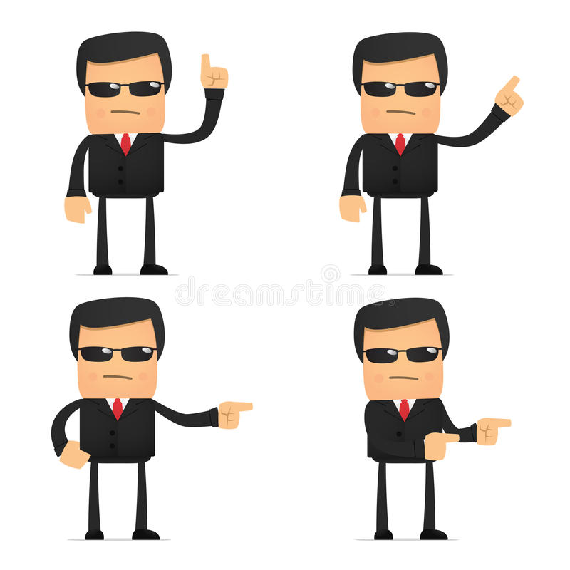 Download Set Of Funny Cartoon Security Stock Images - Image: 21242834