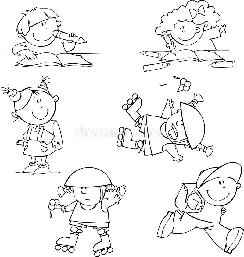 Set Of Funny Kids Stock Photography