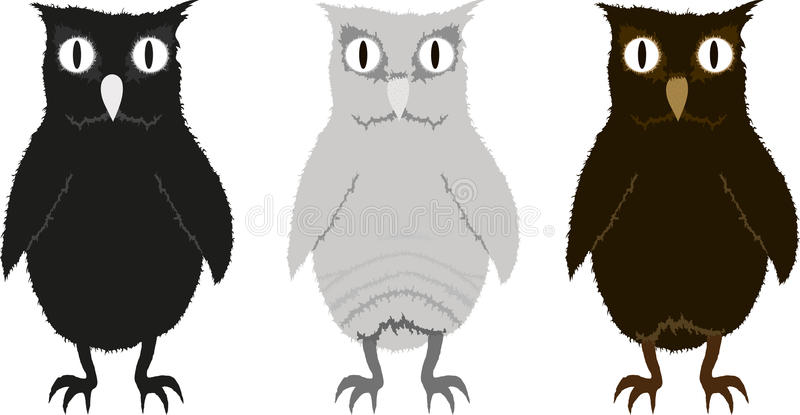 Download Set of funny owlets stock vector. Illustration of amusing - 24242880