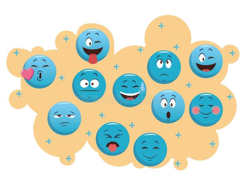 Set gadek emoticons royalty ilustracja