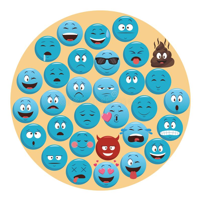 Set gadek emoticons ilustracji