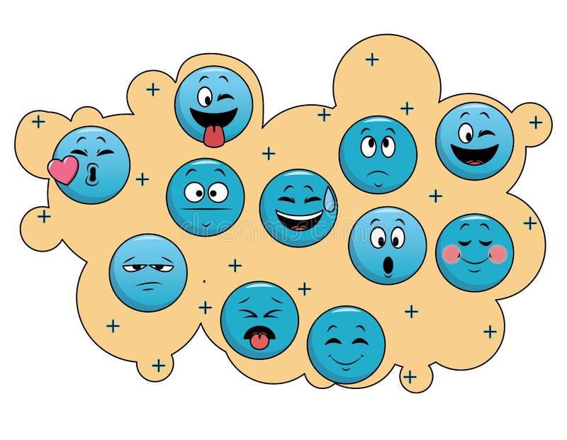 Set gadek emoticons ilustracja wektor