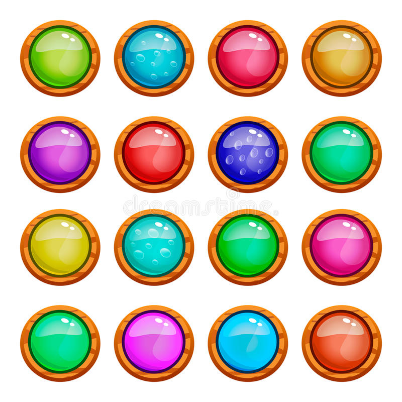 Set of game buttons vector illustration