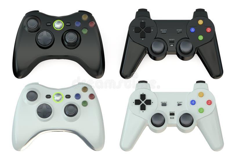 Set of gamepads. Isolated on white background vector illustration